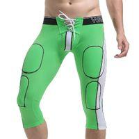 Wholesale Drawstring Underwear - WJ Brand Men Nylon Sexy Shorts New Drawstring Penis Pouch Designed Gay Underwear High Elastic Fitness Short pants