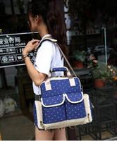 Fashion Multi-function Mummy Bag Waterproof Nylon Mummy Backpacks Diaper Bags MS 002