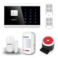 Wholesale Secure Gsm Alarm - LS111- KERUI English France Spanish Russian Wireless Touch Keypad LCD Display GSM PSTN Home Secure Voice IOS Android APP Alarm On Sale