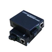Wholesale fiber modes - 1310nm A 1550nm B 10 100 1000mbps gigabit ethernet fiber media converter,1 rj45 1 optical sc single mode single fiber transceiver 20km