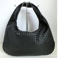 Wholesale Woven Leather Crossbody Handbag - Wholesale-Women Handbag Fashion Casual Travel Bag Large Capacity High Quality Woven PU Leather Tote Bags Shoulder Crossbody Hobo Bag