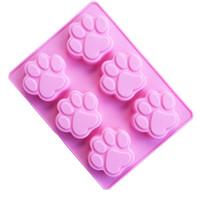 çikolata en düşük fiyat toptan satış-En düşük Fiyat Kedi Paw Print Bakeware Silikon Kalıp Çikolata Çerez Şeker Sabun Reçine Balmumu Kalıp Kek Dekorasyon Araçları
