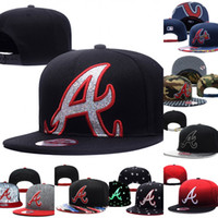 Wholesale Wholesale Sports Caps Hats - Wholesales Atlanta Braves Baseball Cap Embroidered Team logo Fitted Cap Sport Fit Hats Colorfull Free Shipping