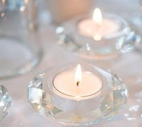 Wholesale Dinner Dance - Crystal Candle Holders for Weddings Decoration Romantic Candlelight Dinner Props Creative Candle Cup Wax Western-style Food Candlestick