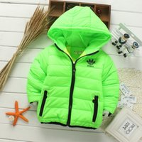 Wholesale Down Padded - Retail 2017 New winter girls jacket, snow treasure cartoon coat cotton-padded clothes cotton-padded clothes, children's coat Kid