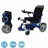 Wholesale Aluminum Wheelchairs - Brushless Motor Lithium Battery Electromagnetic Brake Aerospace Aluminum Alloy Folding Lightweight Electric Wheelchair Easy On Plane CE FDA