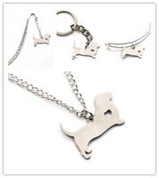Wholesale pet hound - Basset Hound dog charm heart cute pet i love charm pendant necklace bangle keyring bookmark