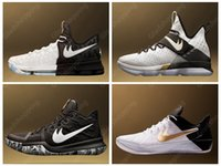 Wholesale Sport Rubber Ball - Kevin Durant KD 9 LBJ 14 Kyrie 3 Kobe A.D. 2017 BHM Black White Men Basketball Shoes KD9 Basket Ball Sports Shoes