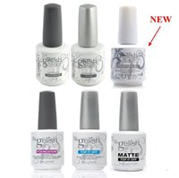 manteau gelé achat en gros de-Harmony Gelish Vernis à ongles STRUCTURE GEL Soak Off Clear Clous Gel TOP it off et Foundation Led Gel UV Gelée aux ongles à la frence Revêtement supérieur Revêtement de base