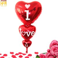 Wholesale Balloons Aluminum Baby - 128*65Cm New Arrival Heart Shaped Balloons Aluminum Balloon Baby Shower Balloons Perfect For Birthday Wedding Party