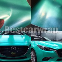 Wholesale green truck cars for sale - Tiffany Green Satin Metallic Vinyl Wrap Car Wap Series Covering With Air bubble Free Luxury Truck Coating size x20m Roll x66ft