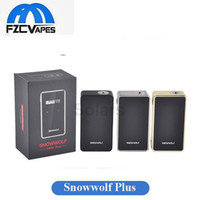 Wholesale E Cigarette Display Metal - Original Snowwolf 200W Plus Box Mod Sigelei Asmodus 235W Output with Touch Screen Display Snow Wolf 235Watt E Cigarette Vape Mod
