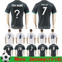 Wholesale Thai Quality Real madrid soccer Jersey RONALDO home white away RUAL JAMES BALE RAMOS ISCO KROOS MODRIC football shirts