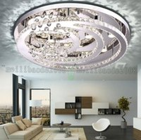 Wholesale New K9 Crystal Chandelier - New Design K9 crystal LED chandelier ceiling lights for living room bedroom modern Pendant lamp Indoor LED lighting MYY