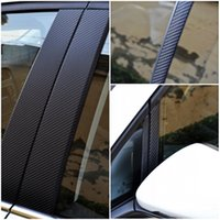 Wholesale C Pillars - carbon fiber Carbon Fiber A B C Pillar Film Sticker kits FIT VW MK7 GOLF 7 car styling car sticker