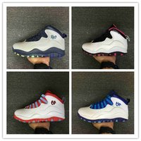 Wholesale Nude Packing - Retro 10 Paris NYC CHI Rio LA Hornets City Pack Vivid Pink 10s Men Basketball Shoes Sneakers Retro X Sports Shoes With Box size 40-47