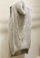 Wholesale Knitted Mink Vest Women - Wholesale-genuine mink cashmere sweater women cashmere vest pure mink vest sweater Customized size and color free shipping S81