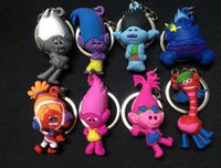 Trolls Movie Key Chain Dolls Poppy Branch Biggie Trolls Figure d'azione Doll Trolls Giocattoli a Coda TOP1846
