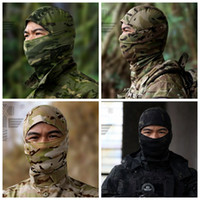 Wholesale VC Balaclava Camouflage Tactical Hunting mask Hiking Outdoor Wargame Motorcycle Ski Cycling Protection Full Face Mask Ninja headgear