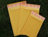 Wholesale Yellow Poly Mailers - 230*280mm 250*350mm big size Yellow kraft Bubble Envelope PE film Poly Mailer self padded Envelopes Mailing Bags gadget Courier Packing Bags