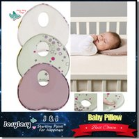 Wholesale Head Neck Protection Pillow - 1 CARTON 24 PIECE Baby Pillow Infant Sleep Shape Toddler Positioner Anti Roll Cushion Flat Bebe Head Pillow Protection of Children Almohadas