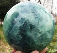 Wholesale Glow Dark Crystals - NEW 80mm Glow In The Dark Stone crystal Fluorite sphere ball+stand