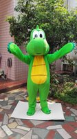 Wholesale Fancy Dress Dragon - Christmas Halloween High Quality Green dragon Dinosaur Mascot Costume Cartoon Clothing Adult Size Fancy Dress Party Free Shipping