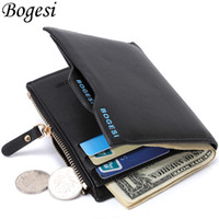 Wholesale Designer Portfolios - Wholesale- Bogesi Male Cuzdan Small Portfolio Designer Famous Brand Short Men Wallet Coin Purse Carteras Man Walet Bag Money Pocket Vallet