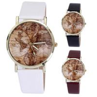 Wholesale world map watch men - Xiniu New Design World Map Watch Women Men Fashion Quartz Dress Watch Relojes Mujer 2017 Relogio Feminino Gift Free Shipping