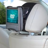 dvd montagem carros venda por atacado-Titular TFY Universal Car Headrest Monte com ângulo fechado ajustável Segurar Grampo para 7 - 10 polegadas tela giratória leitores de DVD portáteis, Preto