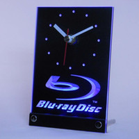 All'ingrosso-tnc0430 Blu-ray Disc Logo Table Desk Clock 3D LED