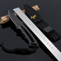 "Wholesale Hunt Equipment - Outdoor Camping Small Straight Knife Letter Opener Black Full Length 7.16"" inch Ultralight 80g Fixed Blade Hunting Equipment"
