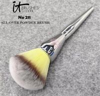 Wholesale Make Up Kit Prices - it cosmetics Makeup Brushfor ULTA #211 live beauty fully all over powder make up blending contour brush kit factory price