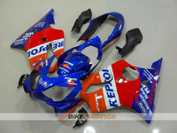 Wholesale F4i Honda - New ABS Fairings Kits For HONDA CBR 600 F4i CBR600F4i 04 05 06 07 CBR600FS FS CBR600 F4i CBR 600F4i 2004 2005 2006 2007 red blue repsol