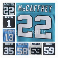 Wholesale Elite S - 2017 New Mens 22 Christian McCaffrey Cam Newton 59 Luke Kuechly 13 Benjamin 35 Tolbert Elite jerseys 100% stitched Fast Free Shipping.