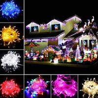 ingrosso decorazione di natale di promozione-Promozione LED Strips 10M stringa Decorazione Luce 110 V 220 V Per il matrimonio del partito ha portato lo scintillio di luci di Natale decorazione luci stringa