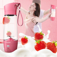 Wholesale Mini Hand Juicer - 7.8*25Cm USB Personal Blender Portable Fruit Juicer Mini Juicing Fruit Mixing Machine Electric Juice Blender Mixer Multi Colors