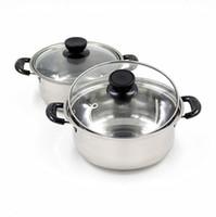 Wholesale Casserole Sets - Quality stainless steel soup pot non stick cookware set pans pots saucepan cooking casserole non magnetic pot brew kettle