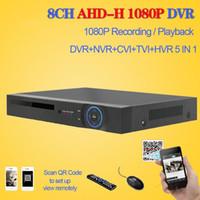 Wholesale Dvr Channel 3g Wifi - LLLOFAM HD CCTV DVR 8ch AHD 1080P surveillance DVR NVR 8 channel AHD-H 1080P HDMI security standalone 3G WIFI DVR video recorder
