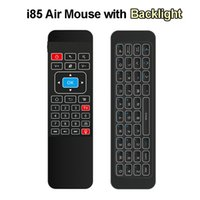 Wholesale Iptv Remote Control - Backlight Wireless Mini Keyboard i85 2.4GHz Fly Air Mouse for Android TV Box IPTV Pad Xbox PS3 Gamepad Remote Control for X92 MXQ M8S