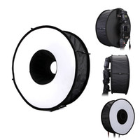 Wholesale 18 quot cm Round Universal Collapsible Magnetic Ring Flash Diffuser Soft Box for Canon Nikon Yongnuo Sony Simplified Version