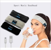 Wholesale Iphone Earplugs - bluetooth Earphone For Iphone 7 Handband Edge Yoga Hat Sport Cap Headset Wireless Hand Band Earplug Music Player Handphone 100 PCS YYA578