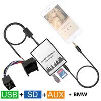 Wholesale Digital Mini Car Mp3 Player - Car MP3 Player SD USB CD AUX Input Audio Adapter Digital CD Changer for BMW 7 Z8 MINI R5x Rover 75 17Pin