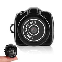 ingrosso videocamere piccole-Mini videocamera HD mini 720P Mini Pocket DVR Videocamere portatili Micro registratore digitale Mini USB DV Y2000 Spedizione gratuita