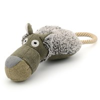 Wholesale Shape Pet Toys - Fashion Gray Cotton Animal Shape Squeaky Pet Toys for Large Dog Safe Chew and Tug With People Happily