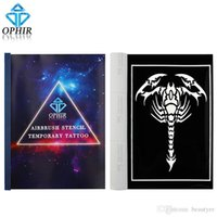 Wholesale OPHIR Big Size Airbrush Stencils for Body Painting Henna Temporary Tattoo Stencils Set Airbrushing Art Pattern Booklet _TA096