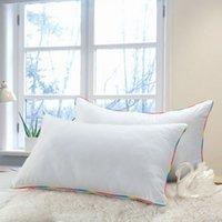 Wholesale Silk Filled Pillow Covers - 1 Piece Bedding Set Pillow Cotton Neck Pillow With Polyester cotton Pillow-Filling And Silk Pillows Cover Bed