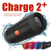 Wholesale Mp3 Mini Speaker Rechargeable - 2017 New Charge2+ Bluetooth Speakers Wireless Bluetooth Streaming Handfree Speaker Hout 1200mAH Rechargeable Battery Wireless Function