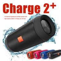 Wholesale Mini Wireless Rechargeable Speaker - 2017 New Charge2+ Bluetooth Speakers Wireless Bluetooth Streaming Handfree Speaker Hout 1200mAH Rechargeable Battery Wireless Function
