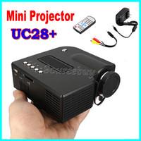videospiele einstellung tv großhandel-UC28 + LED Mini tragbares Licht Heimkino-Videoprojektor LCD Connect Set-Top-Box USB-TV-Spielekonsole DVD-Player Digital Pocket Proyector